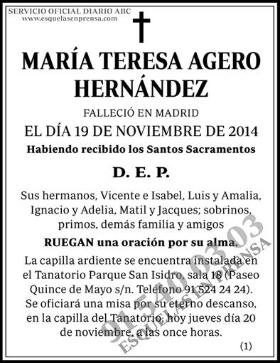 María Teresa Agero Hernández